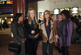 Nia Long, Wendi McLendon-Covey, Zulay Henao, and Cocoa Brown in Tyler Perry's The Single Moms Club