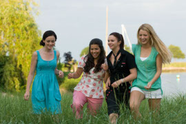 Alexis Bledel, America Ferrera, Amber Tamblyn, and Blake Lively in The Sisterhood of the Traveling Pants 2