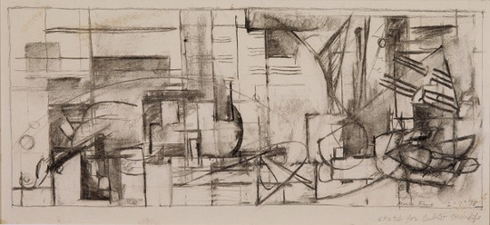 'Sketch for a Cubist Still Life' (1938), from the collection of the Augustana College Art Museum