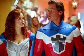 Kelly Preston and Kurt Russell in Sky High