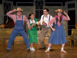 Andrew Crowe, Kimberly Furness, Vaughn M. Irving, and Jenny Stodd in Smoke on the Mountain