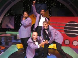 C.J. Williams, Joseph J. Baez, Denzel Edmondson, and Kiarri D. Andrews in Smokey Joe's Cafe