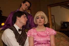 Steven Mondloch, Elyssa LeMay, and Ellenelle Gilliam in Something's Afoot
