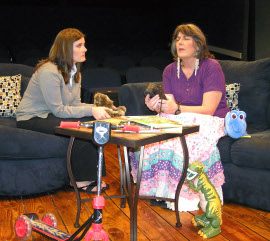 Jessica Nicol and Susan Perrin-Sallak in Rabbit Hole