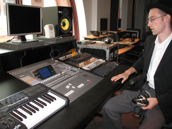 Instructor Lars Rehnberg at The Sound Lab