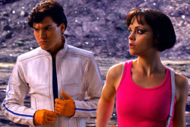 Emile Hirsch and Christina Ricci in Speed Racer