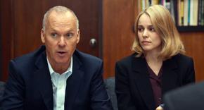 Michael Keaton and Rachel McAdams in Spotlight