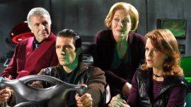 Ricardo Montalban, Antonio Banderas, Holland Taylor, and Carla Gugino in Spy Kids 2: The Island of Lost Dreams