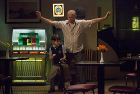 Jaeden Lieberher and Bill Murray in St. Vincent