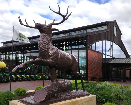 The stag near the John Deere Commons. Photo by Bruce Walters.