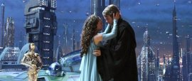 Natalie Portman and Hayden Christensen in Star Wars, Episode III - Revenge of the Sith