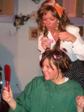 Pamela Crouch and Colleen Winters in Steel Magnolias