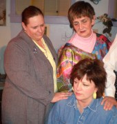 Lisa Kahn, Dee Canfield, and Angela Elliott in Steel Magnolias