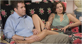 Will Ferrell and Maggie Gyllenhaal in Stranger Than Fiction