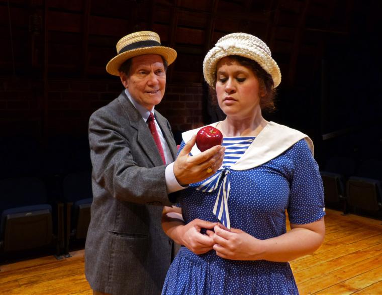 Steve Trainor and Elle Winchester in Inherit the Wind