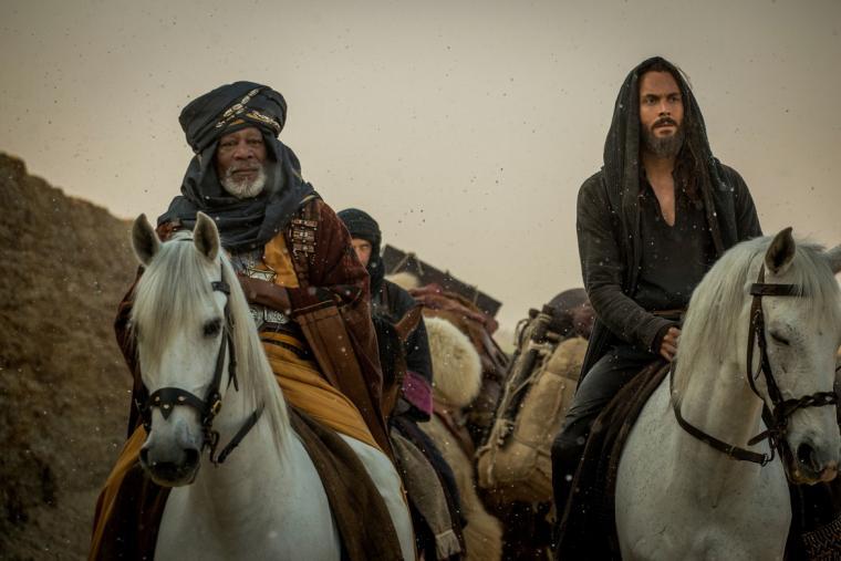 Morgan Freeman and Jack Huston in Ben-Hur