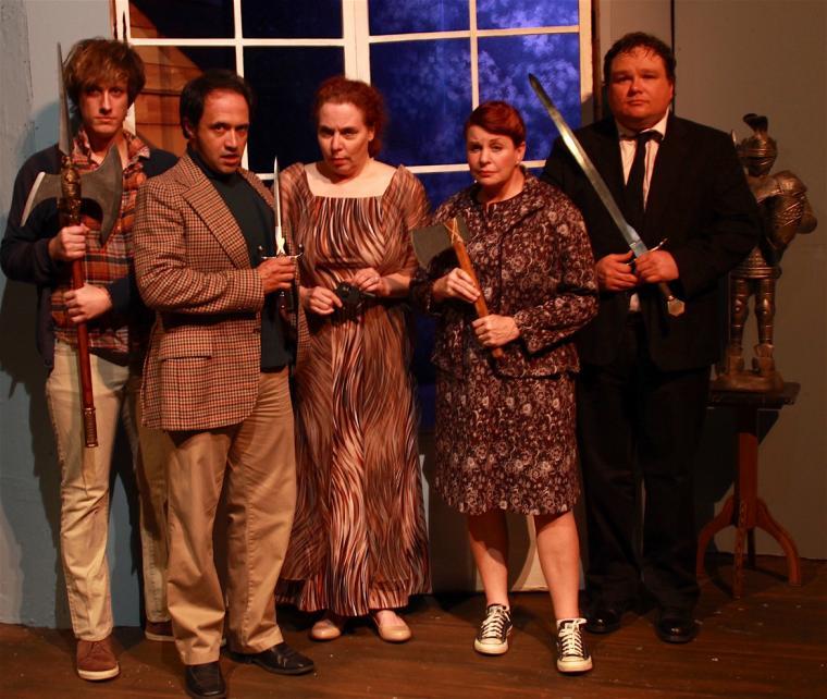 Adam Cerny, Jason Platt, Pamela Briggs, Nancy Teerlinck, and Jason Dlouhy in Deathtrap
