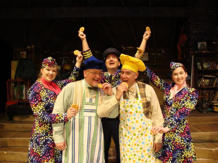 Noel Huntley, Janos Horvath, Marc Ciemiewicz, Brad Hauskins, and Morgan Griffin in A Year with Frog & Toad