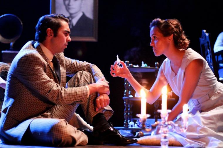 Christian Klepac and Jami Witt in The Glass Menagerie