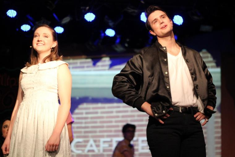 Holly Moss and Jon Loya in Grease