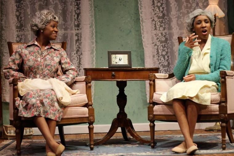 Shayla Brielle G. and Jenia Head in Having Our Say: The Delany Sisters' First 100 Years