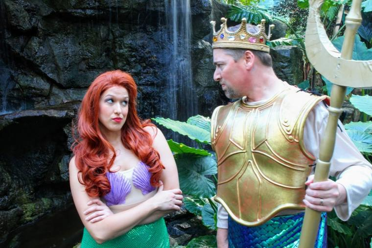 Hillary Erb and Nathan Bates in The Little Mermaid