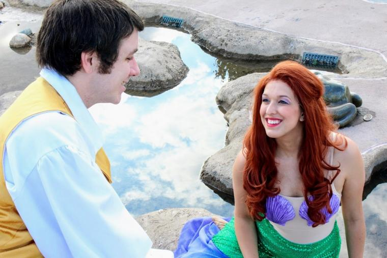 John and Hillary Erb in The Little Mermaid