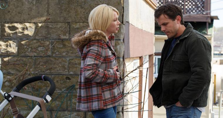 Michelle Williams and Casey Affleck in <em>Manchester by the Sea</em>