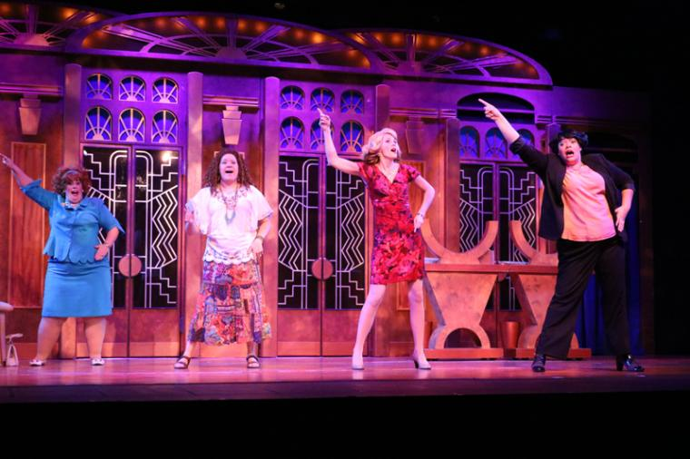 Donnalynn Waller, Megan Opalinski, Sarah Hayes, and Whitney Hayes in Menopause: The Musical