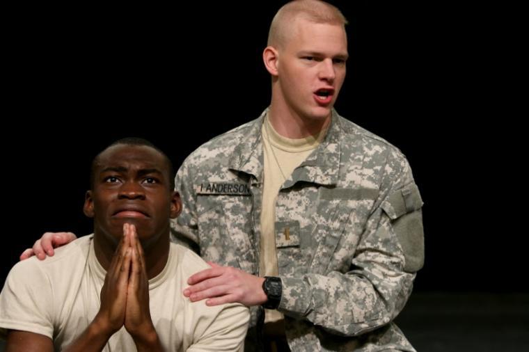 Debo Balogun and Keenan Odenkirk in Othello