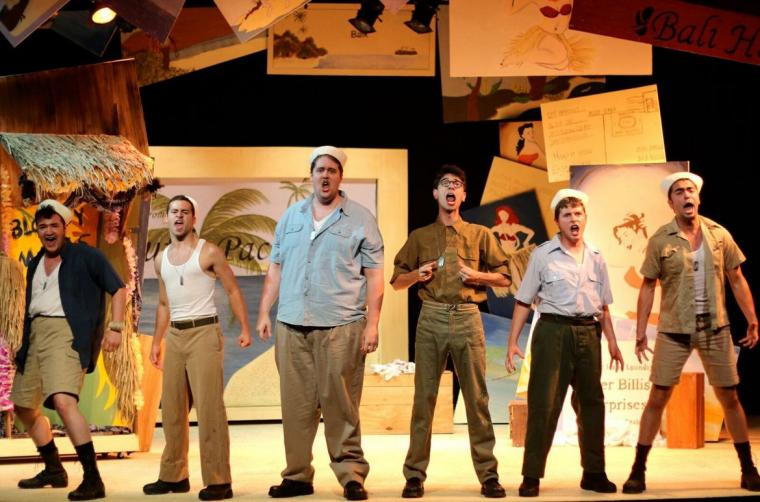 Cash Maciel and ensemble members in South Pacific