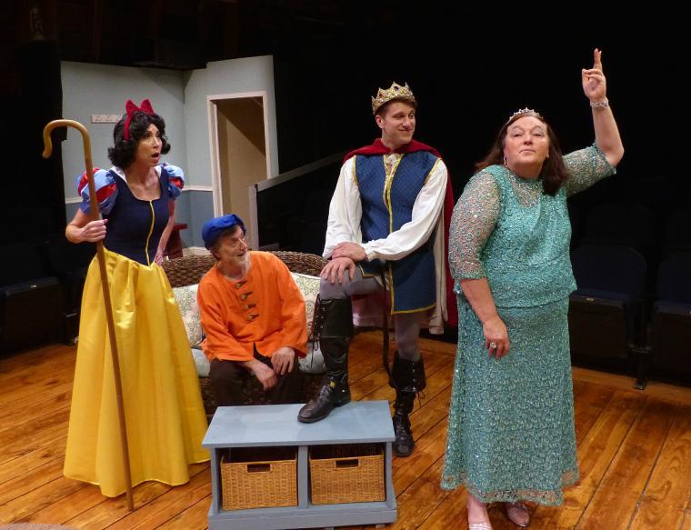 Heidi Hamer, Tom Vaccaro, Victor Angelo, and Jackie Skiles in 'Vanya & Sonia & Masha & Spike'