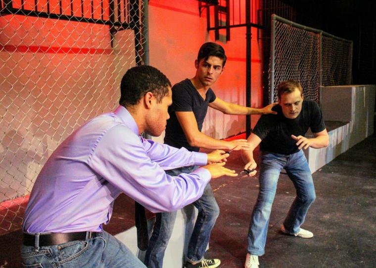 Michael Alexander, John Whitson, and Andy Sederquist in West Side Story