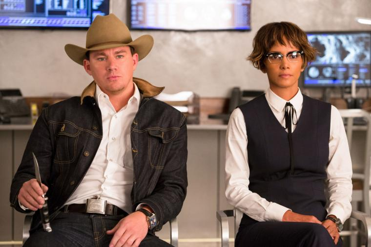 Channing Tatum and Halle Berry in Kingsman: The Golden Circle