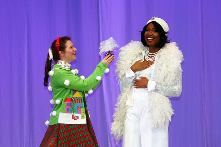 Miranda Sloan and Antoinette Nebinger in Fancy Nancy Splendiferous Christmas