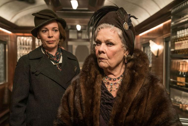 Olivia Colman and Judi Dench in Murder on the Orient Express
