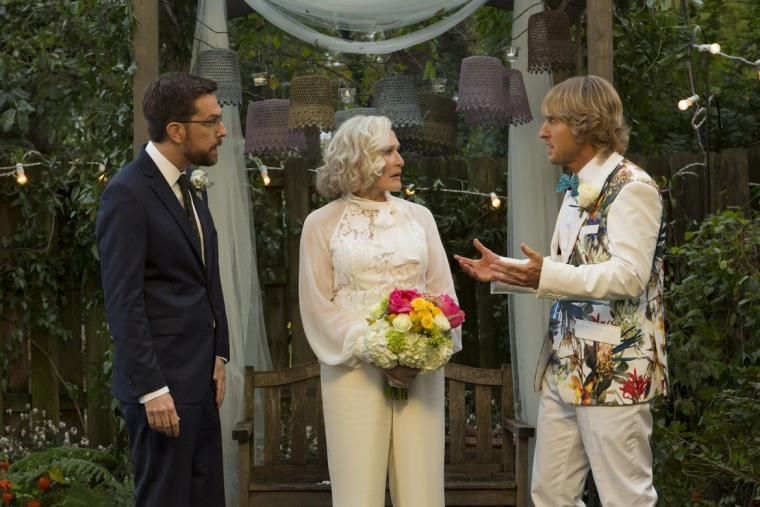 Ed Helms, Glenn Close, and Owen Wilson in Father Figures