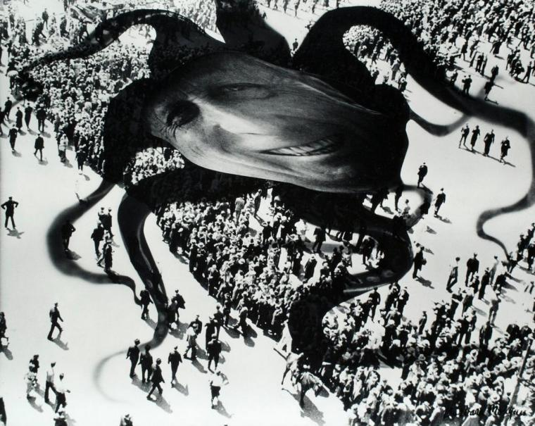 Hearst Over the People, by Barbara Morgan, Gelatin silver print, 1939.