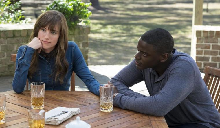 Allison Williams and Daniel Kaluuya in Get Out