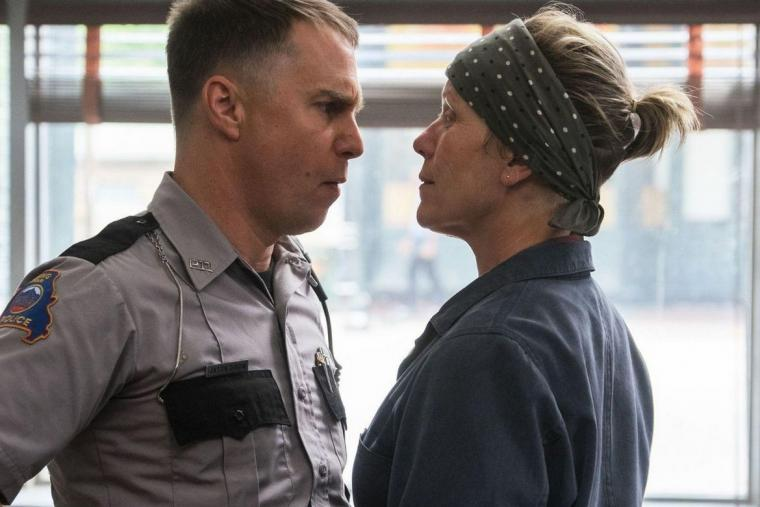 Sam Rockwell and Frances McDormand in Three Billboards Outside Ebbing, Montana