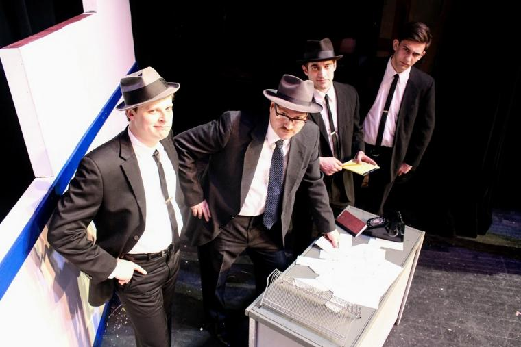Andy Sederquist, Tim Dominicus, Chase Austin, and Joe Fiems in Catch Me If You Can