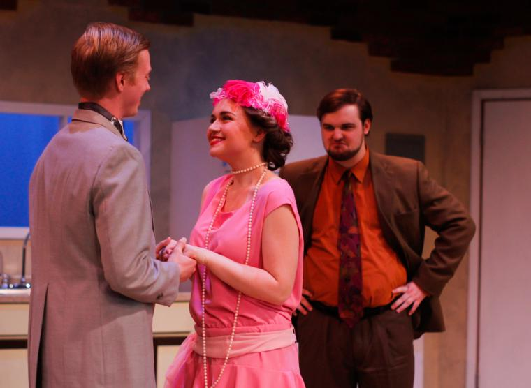 Daniel Williams, Katie Griswold, and Austin Allbert in The Drowsy Chaperone