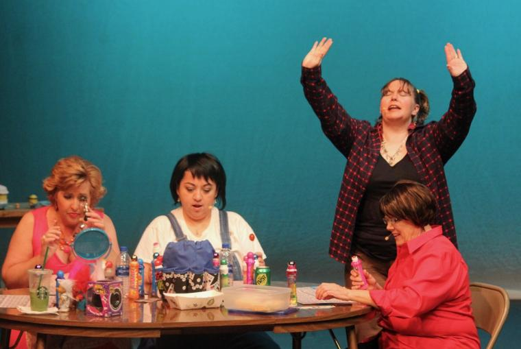 Sondra Karbe, Cindy Ramos, Sarah Laufer, and Sarah Meyer in Bingo! The Winning Musical
