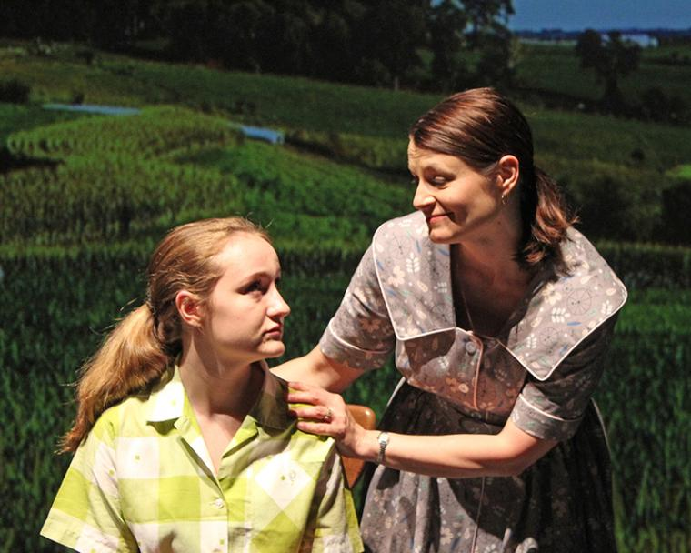 Krianna Walljasper and Jenny Winn in The Bridges of Madison County