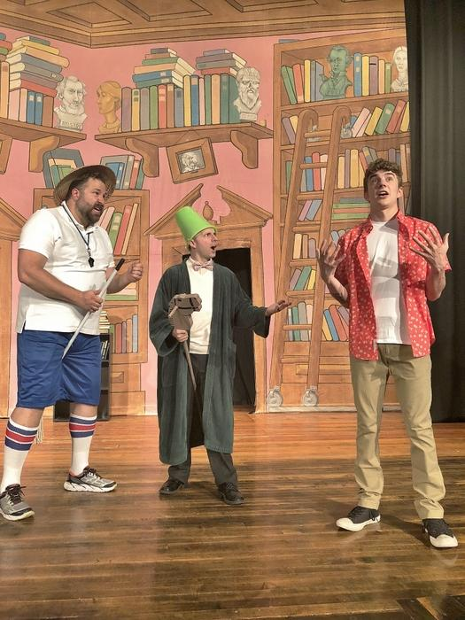 Jeremy Mahr, Brent Tubbs, and Jackson Greene in All the Great Books (Abridged)