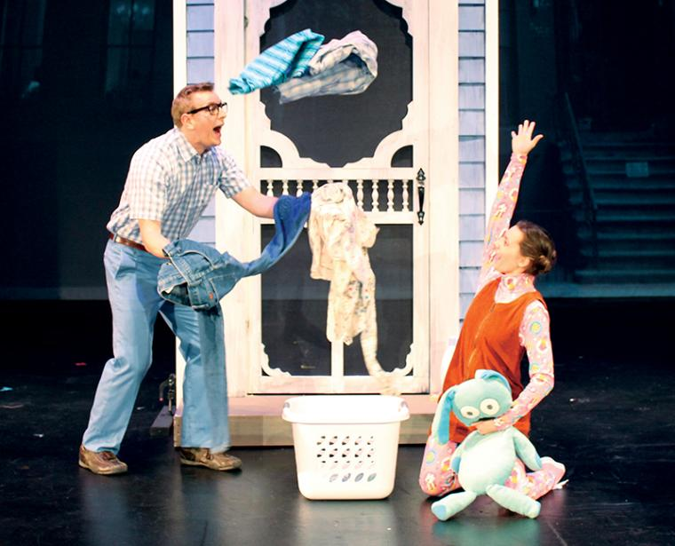 "Michael Penick and Cydney Weitzel in ""Knuffle Bunny: A Cautionary Musical"""