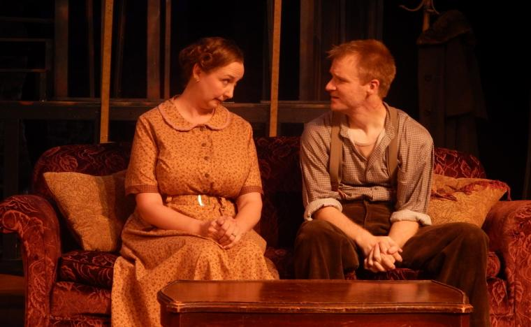 Megan Cox and Seth Kaltwasser in The Glass Menagerie (photo by Bridget Grace Sheaff)