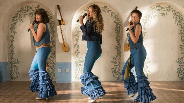 Jessica Keenan Wynn, Lily James, and Alexa Davies in Mamma Mia! Here We Go Again