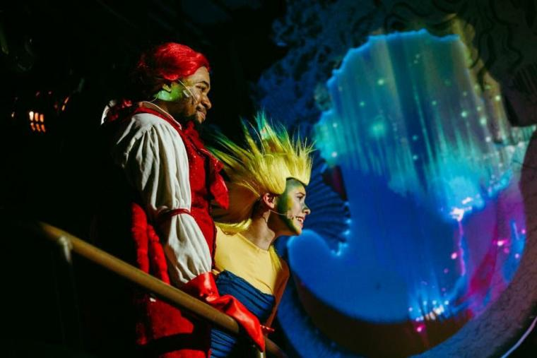 Dom Pagliaro and Rosalind Blume in The Little Mermaid
