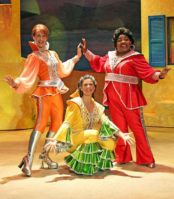Erin Churchill, Jennifer Poarch, and Illy Kirven in Mamma Mia!